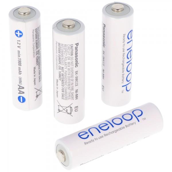 Panasonic eneloop Standard (ehem. Sanyo eneloop Standard) Akku Mignon/AA HR-3UTG 2000mAh 4er Pack