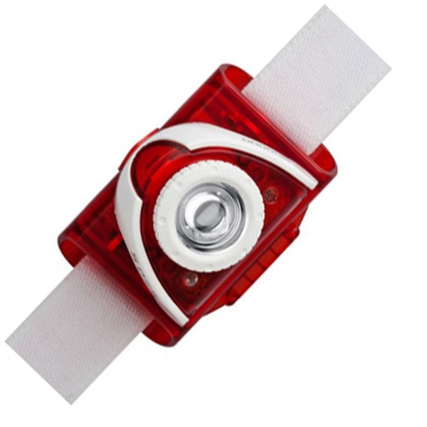 LED Lenser SEO 5 LED Stirnlampe Rot inklusive Batterien