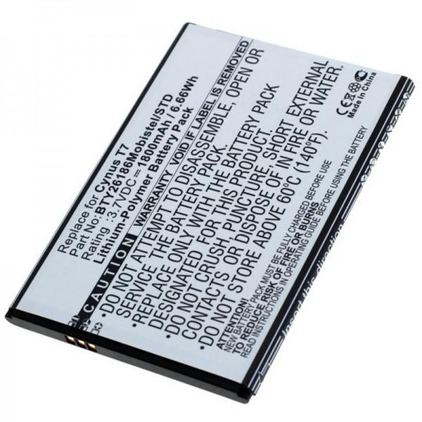 Akku passend für den Mobistel Cynus T7 Akku MT-600S, MT-600W, BTY26186