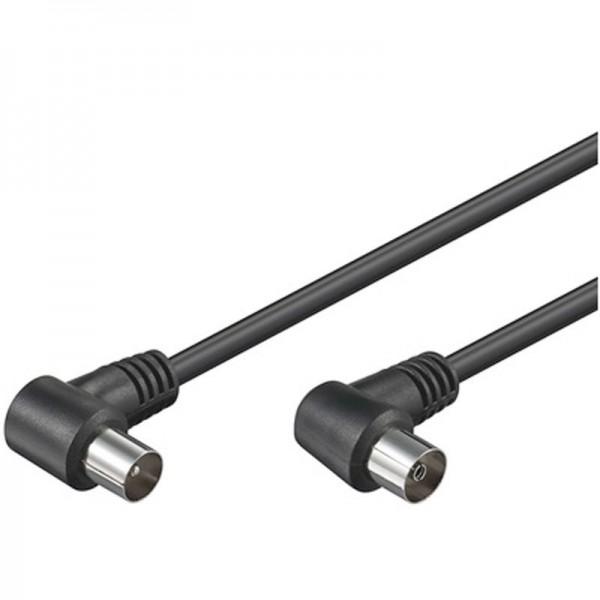 TV Anschlußkabel, koaxial Anschluss Kabel Winkel schwarz 1,5 Meter