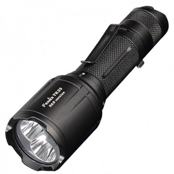 Fenix TK25RB LED Taschenlampe weiß mit roter und blauer LED Lichtfunktion