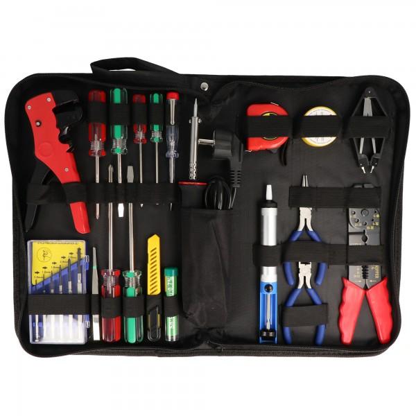 20-teiliges Werkzeugset in praktischer Aufbewahrungstasche, Werkzeugtasche inklusive Lötset