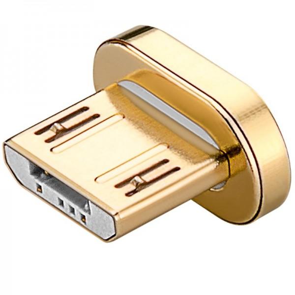 Micro-USB Ersatzstecker magnetisch, Magnet-Kontakt kann beidseitig verwendet werden