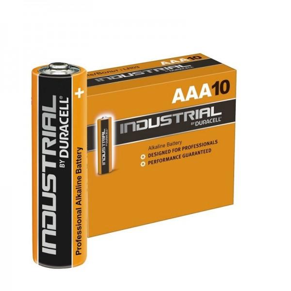 DURACELL Industrial Alkaline Batterie Micro AAA 1,5 Volt im 10er Pack