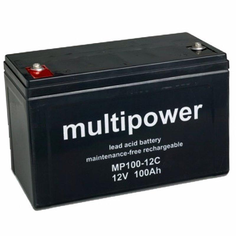 mp100 12c multipower bleiakku 12 volt 100ah 338x170x212mm. Black Bedroom Furniture Sets. Home Design Ideas