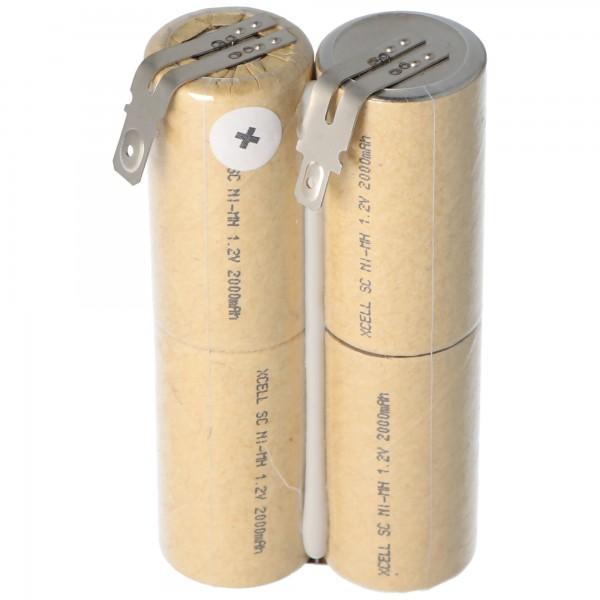 Akku passend für den Philips Electric Sweeper FC6125 Akku mit 4,8mm und 6,3mm