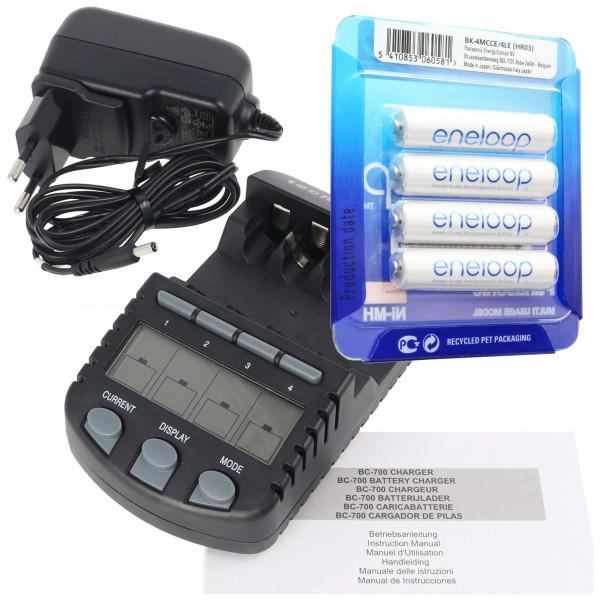 Panasonic eneloop Standard HR-3UTGA-4BP-CASE 2x Mignon AA Akkus und 1 AccuCell LCD-Ladegerät