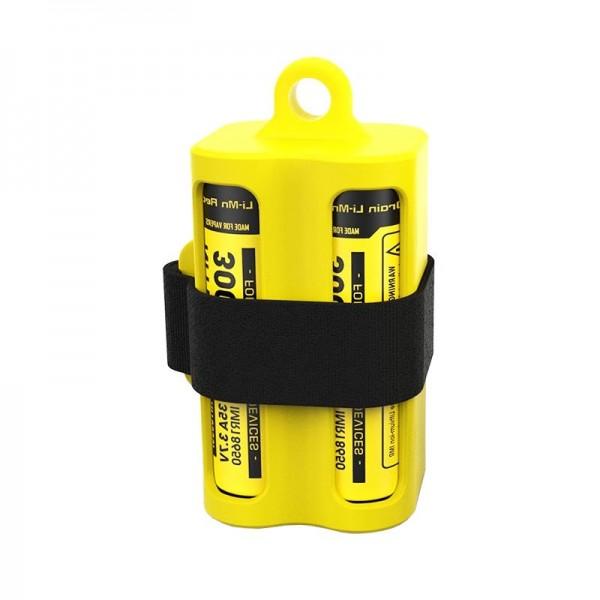 Batteriemagazin NBM40 Gelb für 1-4 Li-Ion 18650 Akkus oder E-Liquid-Fläschen und Verdampfer