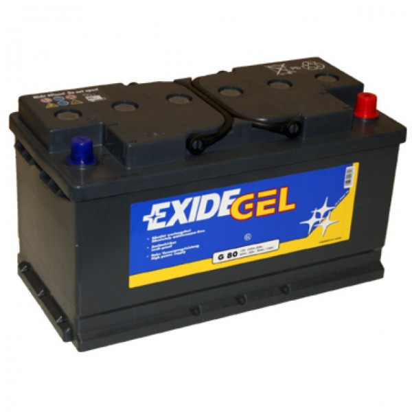 Exide Equipment Gel ES 900 (G80) Blei Akku mit A-Pol 12V, 80000mAh