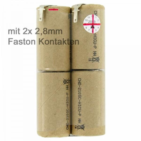 Akku passend für Bosch AGS10, 2607335003 mit Faston 2,8mm Kontakten