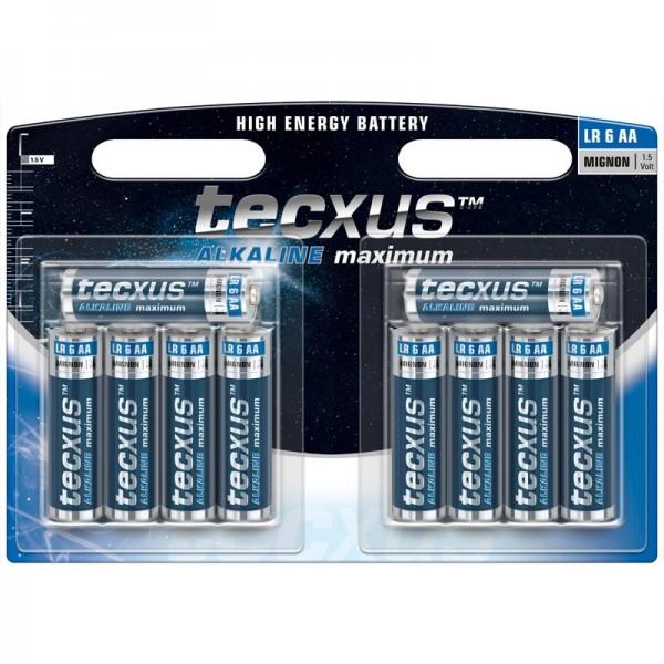 tecxus Alkaline Mignon, AA, LR6 Batterie im 10er Pack