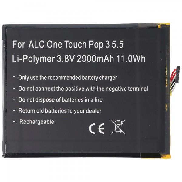 Akku passend für Alcatel One Touch Pop 3 5.5, OT-5025, TLp029A1, CAC2910008C1