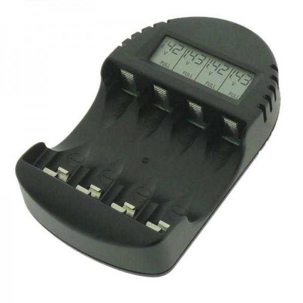 BC 250 Ladegerät mit LCD-Anzeige der Akku-Spannung, Ladefortschritt