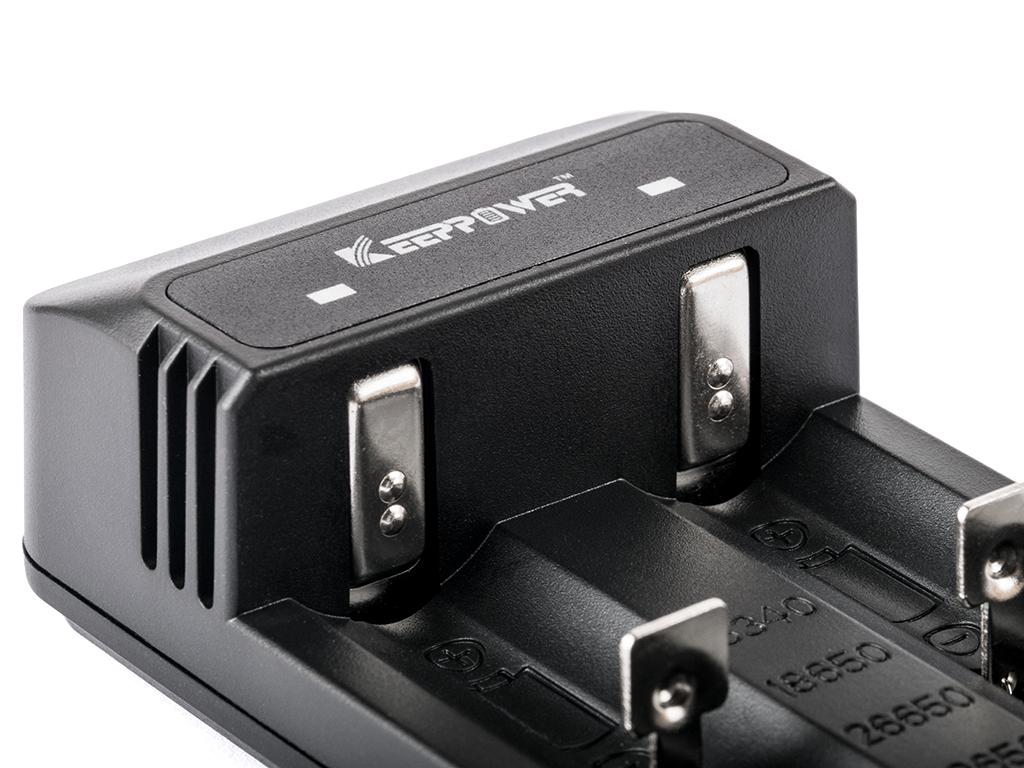keeppower c2 ladeger t f r lithium ionen akkus f r li. Black Bedroom Furniture Sets. Home Design Ideas