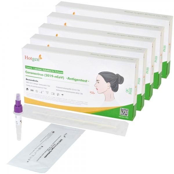 5 MedRhein TN12 Hotgen COVID-19 Laientest (Nasal) mit BfArM-Sonderzulassung, Coronavirus (SARS-Cov-2) Antigen Schnelltest, kein PCR