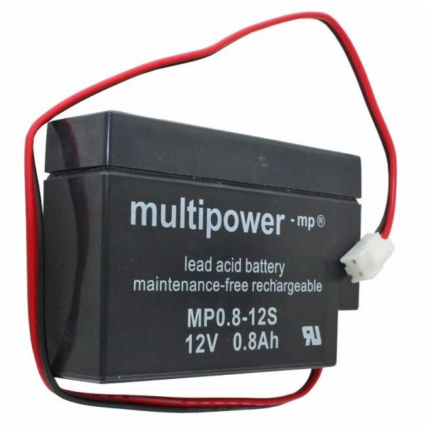 MP0,8-12 Multipower Blei-Akku mit JST Stecker, MP0.8-12S