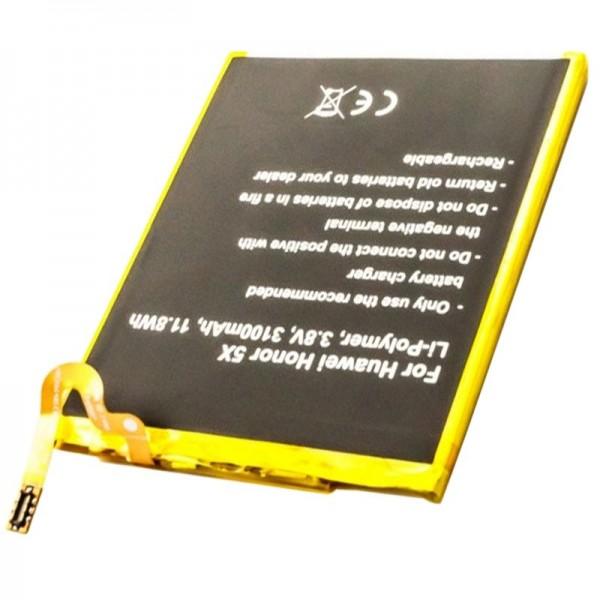 Akku für Huawei Honor 5X, HB396481EBC 3,8 Volt 3100mAh