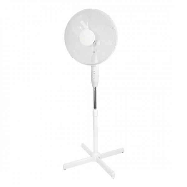 Standventilator kippsicher, verstellbar mit 3 Geschwindigkeitsstufen, 40W weiß inkl. Überhitzungsschutz