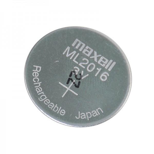 MAXELL ML2016 Li-ion Knopfzelle Li-Mn 3V 25mAh wiederaufladbare Knopfzelle
