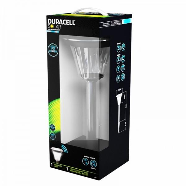 duracell led solar wegeleuchte mit bewegungsmelder 9 90 lumen aus edelstahl und glas inkl. Black Bedroom Furniture Sets. Home Design Ideas