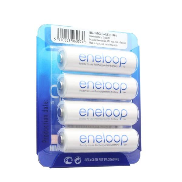 Panasonic eneloop Standard (ehem. Sanyo eneloop Standard) HR-3UTGB-4BP Case AA Mignon-Akku 4-er Pack mit Case