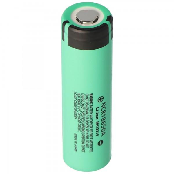 Panasonic NCR18650A 3,6V 3100mAh Li-Ion-Akku ungeschützt, Abmessungen 64,9x18,1mm beachten