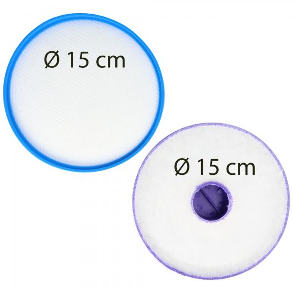 2x Staubsaugerfilter für Staubsauger wie Dyson 900228-01, 917819-01 , Hepa-Filter, Vormotor-Filter