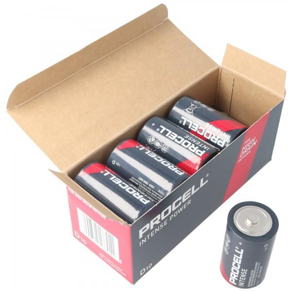 10 Stück Duracell Procell Intense Mono D, LR20 im Karton, für energieintensive Geräte