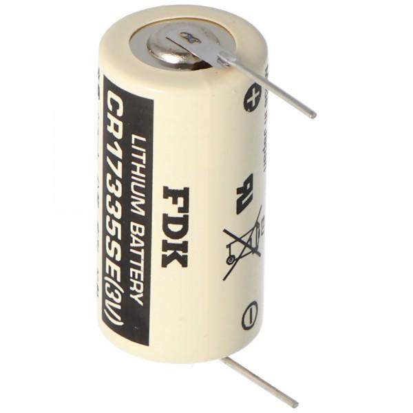 Sanyo Lithium Batterie CR17335 SE Size 2/3A, mit Lötpadel