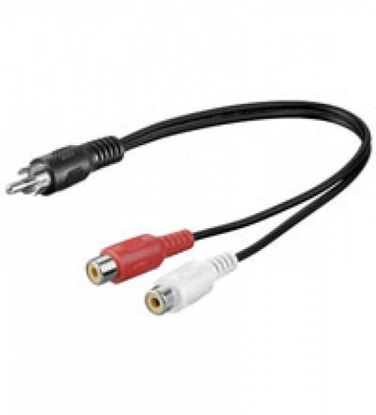 Audio-Video-Kabel 1,5 m 1 x Cinchstecker > 2 x Cinchkupplung
