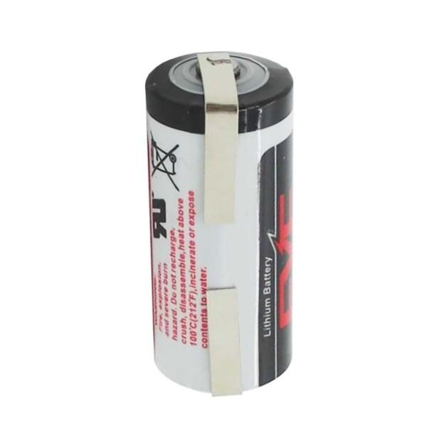 Lithium 3,6V Batterie ER 14335, 2/3 AA ER14335 Standard Batterie mit Lötfahne U-Form zum Selbstumbau, Selbsteinbau