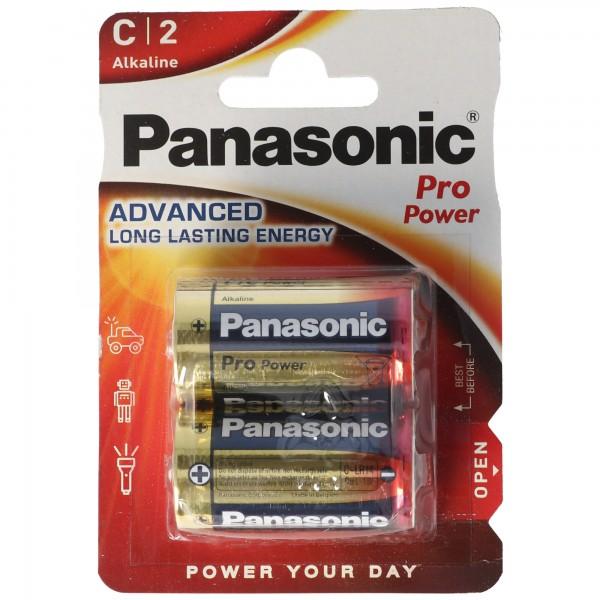 Panasonic Pro Power Baby C LR14 Alkaline Batterie im 2er Blister