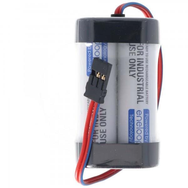 Empfänger Pack Panasonic eneloop Standard (ehem. Sanyo eneloop Standard) AA 4er Würfel 4,8/2000 Graupner