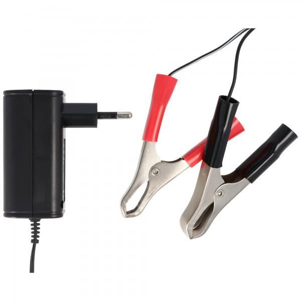 Ladegerät für 2V, 6V und 12V Blei-Säure-, Blei-Gel- und Blei-Vlies-Akkus ab 1,2Ah
