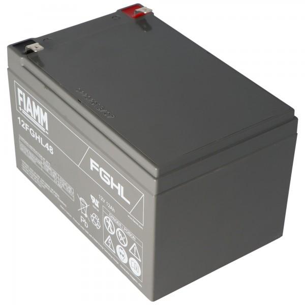 Fiamm 12FGHL48 Blei PB Akku 12 Volt 12000mAh mit Faston 6,3mm Kontakten