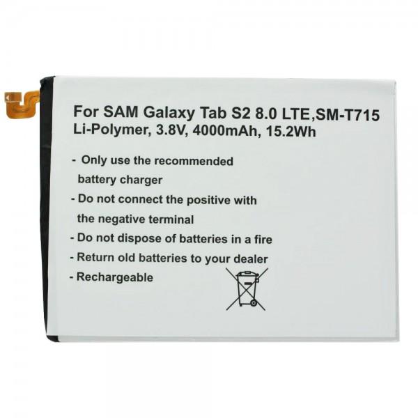 EB-BT710ABE Akku passend für Samsung Galaxy Tab 2 8.0 und weitere