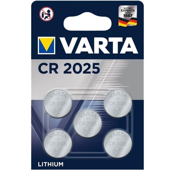 Varta CR2025 Lithium Batterie im 5er Sparpack