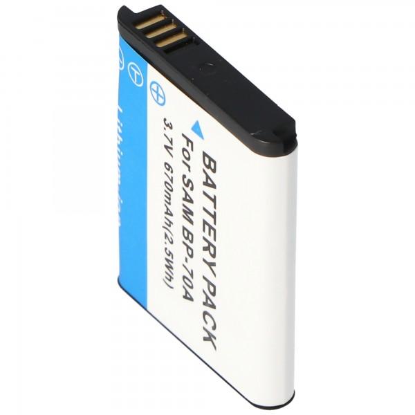 AccuCell Akku passend für Samsung BP-70A, BP70A, AQ100, ES65