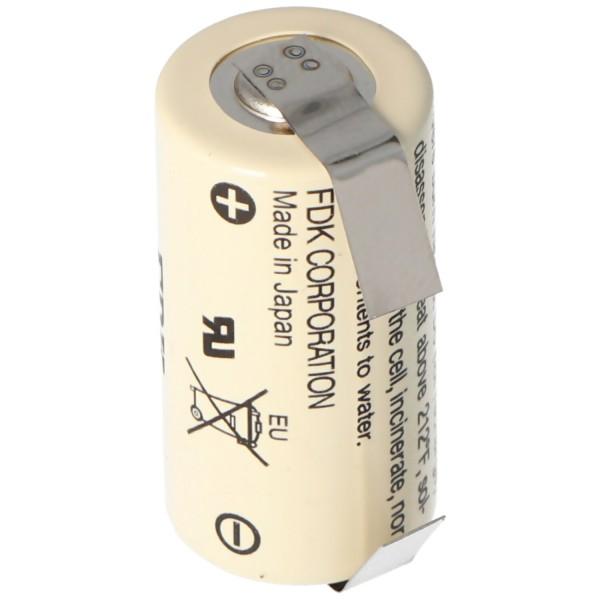 Sanyo Lithium Batterie CR17335 SE Size 2/3A mit Lötfahne U-Form