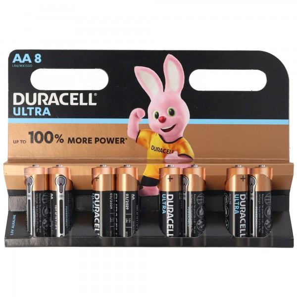 Duracell MX1500 Ultra Power 8er Blister Alkaline Mignon AA LR6 Batterien