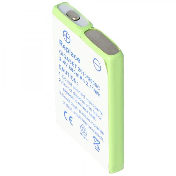 AccuCell Akku passend für Siemens Gigaset 3000 Pocket, 880mAh