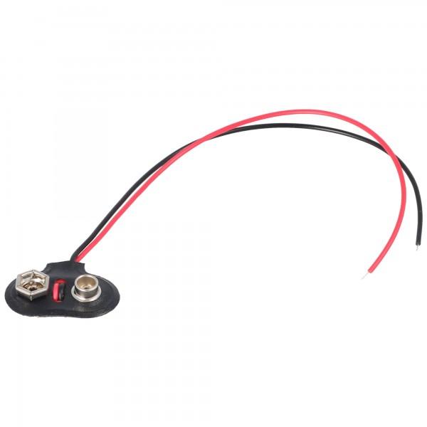 AccuCell Batterieclip für 9 V Block T-Form