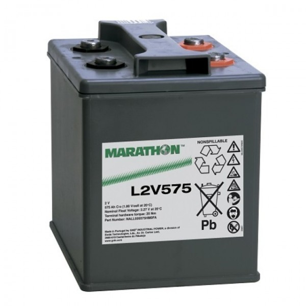 Exide Marathon L2V575 Blei Akku mit M8 Schraubanschluss 2V, 575000mAh