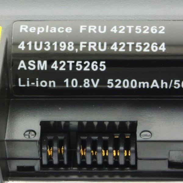 Akku für Lenovo ThinkPad R61 Serie, R400 Serie, T61 Serie 5200mAh
