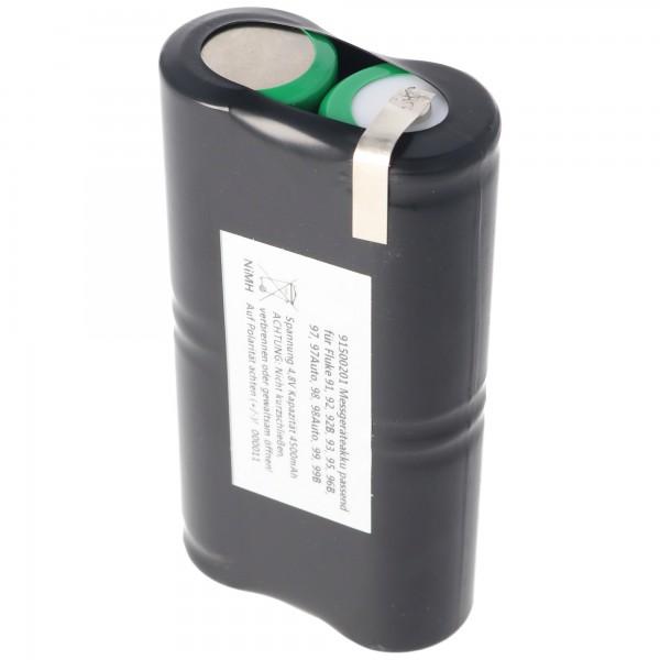 Akkupack für Fluke ScopeMeter PM9086 Akku NiMH 4,8 Volt 4000mAh