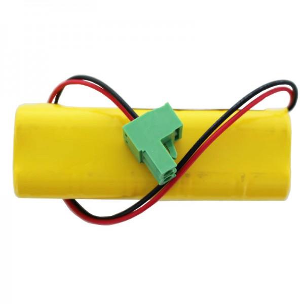 Ersatz-Akku passend für Türsteuerung Besam 24V EMC, EMCM, EU-EUD 150mAh mit Kabel und Stecker
