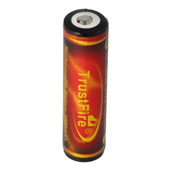 Trustfire 18650 3000mAh 3,7 Volt geschützter Li-Ion-Akku Abmessungen 68,9x18,4mm Flame