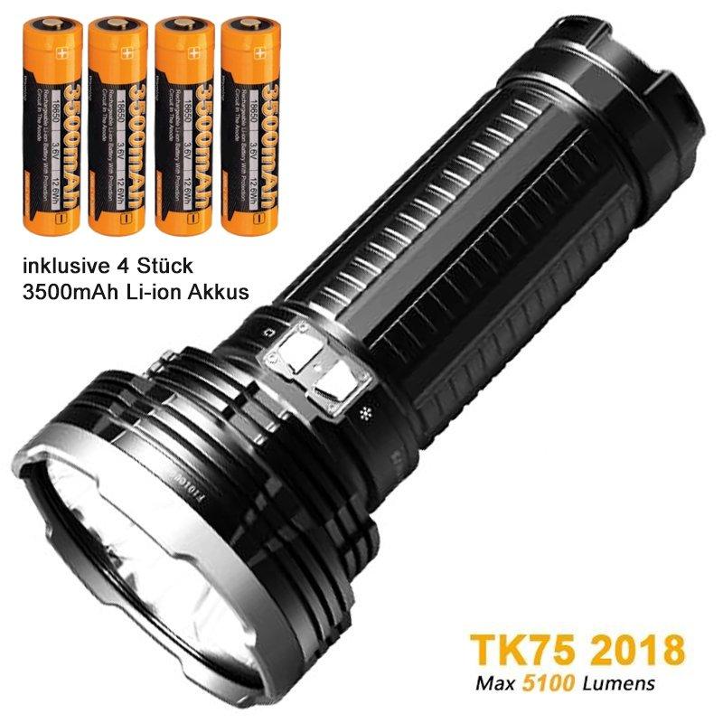 fenix tk75 2018 4 cree xhp35 hi led taschenlampe mit max. Black Bedroom Furniture Sets. Home Design Ideas