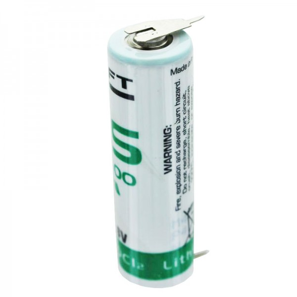 SAFT LS14500CNA Lithium Batterie mit 2er Print Kontakten