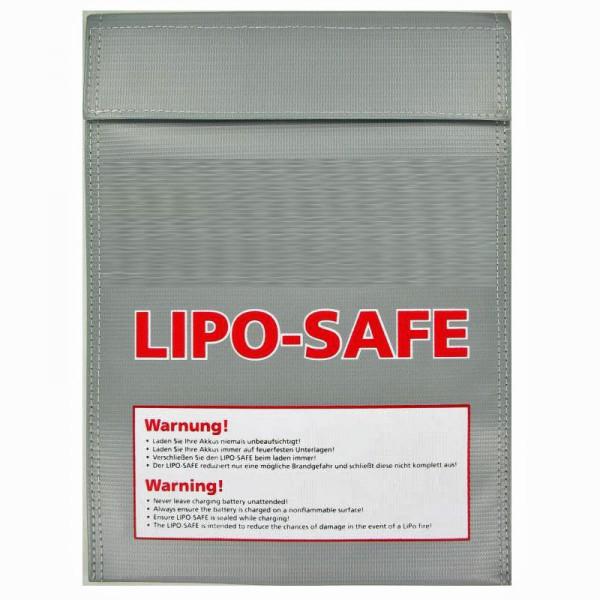 LIPO-SAFE Lipo Schutzbeutel groß, Lipos sicher aufbewahren! 30x23cm Silber 150Gramm, Lipo Guard